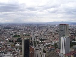 Panorama of Bogota, Colombia