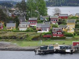 island in Norway fjord town sea