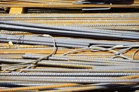 Metal rods steel bars