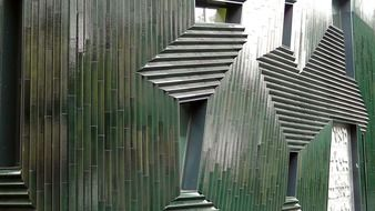 facade of Jewish Community Center, New Synagogue by Manuel Herz, germany, Mainz