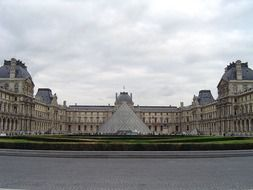 view of louvre pyramid paris
