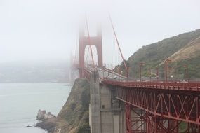 golden gate bridge on a rainy day