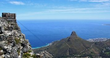 beautiful view of coast from table mountain, south africa, cape town
