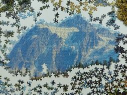 glaciated mountains, puzzle