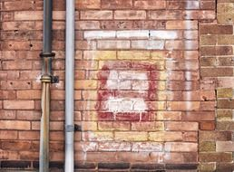 Drawing on the brick wall