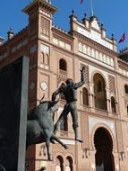 monument to Died Torero at bull fighting arena, spain, madrid
