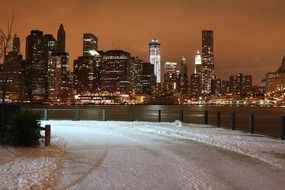 Magnificent winter New york city