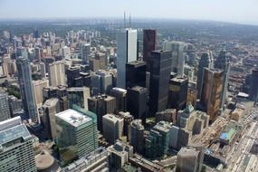 top view of downtown, canada, toronto