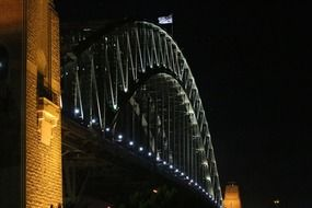 harbour bridge at night Sydney