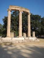 Monument of philippeion in greece