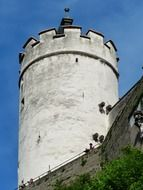 High defensive tower in Salzburg
