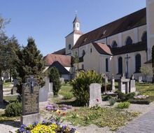 cemetery at church, germany, markt-indersdorf