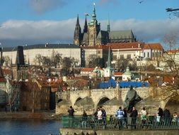 Prague castle in the old town of Czech Republic
