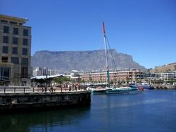 harbor at mountain table, south africa, cape town