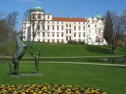 celle palace at park, germany, celle
