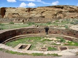 prehistoric ruin of Great kiva of Chetro Ketl, usa, new mexico, Chaco Culture National Historical Park