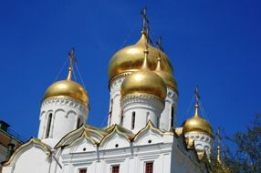 Church with amazing golden onion domes