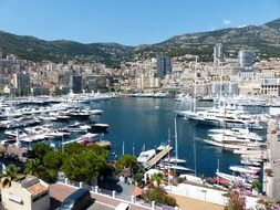aerial view of the port in monaco