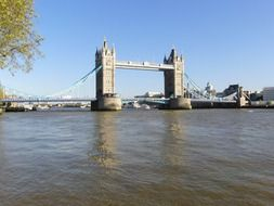 Tower bridge on the river in London