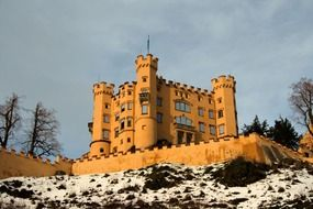 hohenschwangau castle at winter, germany, bavaria