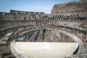 arena of ancient colosseum, italy, rome