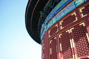 temple of heaven, colorful facade, detail, china, beijing