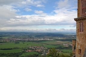picturesque view from hohenzollern castle
