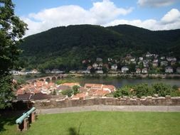 scenic old town at summer, germany, heidelberg