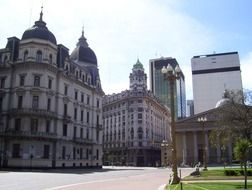 old and modern buildings in city, argentina, buenos aires