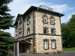 railway station building in Arzberg