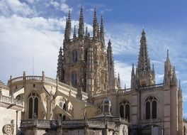 gothic Cathedral of Saint Mary at sky, spain, burgos