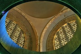 dome with arched windows, interior of Voortrekker Monument, south africa, pretoria
