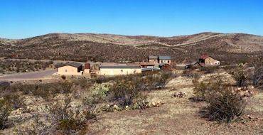 ghost town in desert,usa, new mexico, shakespeare