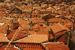 tile red roofs of old town