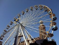 ferris wheel at town hall, netherlands, venlo