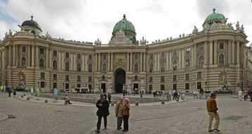 view on the hofburg imperial palace in vienna, austria