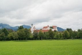 medieval meadow on the St Mang Abbey