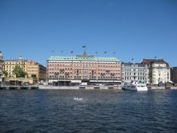 waterfront of old town at summer, sweden, stockholm