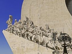 Monument to the Discoveries, detail at sky, portugal, lisbon