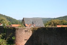 panoramic view of the old town in budingen