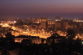 lublin panorama city night view