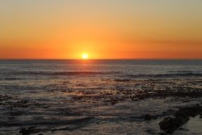 beautiful sunset cape town africa ocean beach