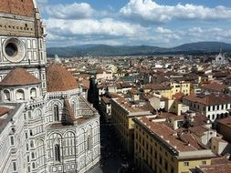 cathedral in city, italy, florence