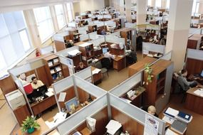 russia office men women working