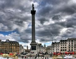 thunderclouds over Trafalgar Square
