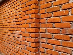 red brick wall construction