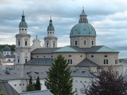 View of the cathedral in Salzburg