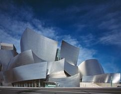 walt disney concert hall, modern building by gehry, usa, california, los angeles