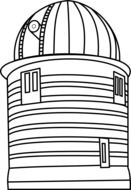 observatory building, black outline