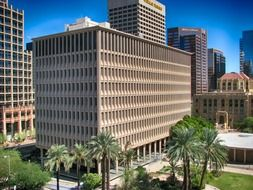 office buildings in downtown, usa, arizona, phoenix